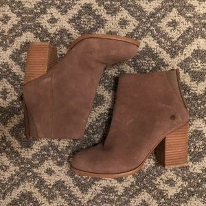 Urban Outfitters Heeled Taupe Booties
